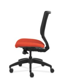 HON Solve Mid-Back Task Chair with Knit Mesh Back Orange Armless Side View HSLVMM.Y1.A.H.IM.COMP46.NL.SB