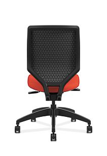 HON Solve Mid-Back Task Chair with Upholstered ReActiv Back Orange Armless Back View HSLVMU.Y1.A.H.0S.COMF46.COMF46.NL.SB
