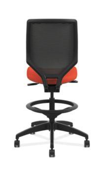 HON Solve Mid-Back Task Stool with Knit Mesh Back Orange Armless Back View HSLVSM.Y1.A.H.IM.COMP46.NL.SB