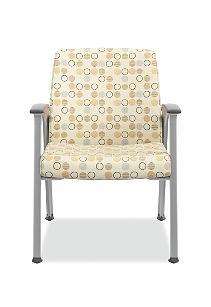 HON Soothe Guest Chair Amuse Quartz Chrome Frame Front View HHCG11.S.SMOMAMU91.P6N