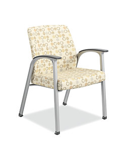HON Soothe Guest Chair Amuse Quartz Chrome Frame Front Side View  HHCG11.S.SMOMAMU91