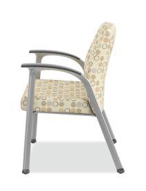 HON Soothe Guest Chair Amuse Quartz Chrome Frame Side View HHCG11.S.SMOMAMU91.P6N
