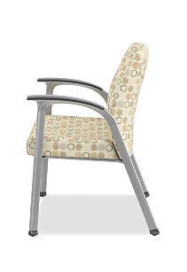 HON Soothe Guest Chair Amuse Quartz Chrome Frame Side View HHCG11.S.SMOMAMU91.P6N