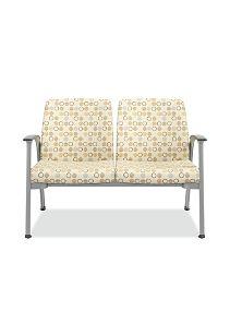 HON Soothe Tandem Guest Chair Amuse Quartz Chrome Frame Front View HHCG21.S.SMOMAMU91.P6N
