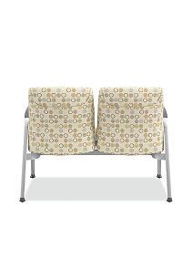 HON Soothe Tandem Guest Chair Amuse Quartz Chrome Frame Back View HHCG21.S.SMOMAMU91.P6N