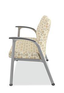 HON Soothe Tandem Guest Chair Amuse Quartz Chrome Frame Side View HHCG21.S.SMOMAMU91.P6N