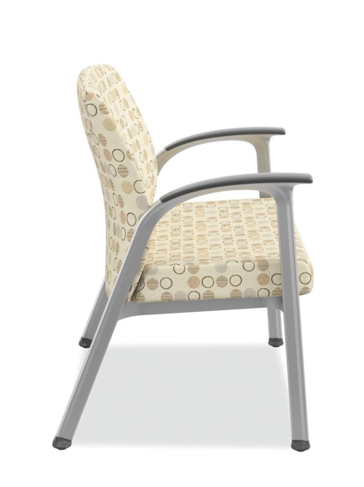 HON Soothe Bariatric Guest Chair Charcoal Urethane Satin Chrome Side View HHCG50.S.SMOMAMU91.P6N
