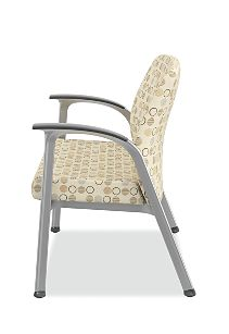 HON Soothe Bariatric Guest Chair Charcoal Urethane Satin Chrome Side View HHCG50.S.SMOMAMU91.P6N