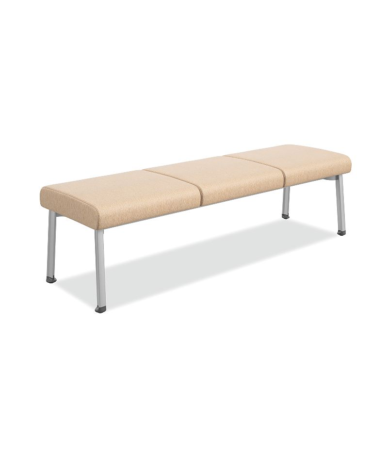 HON Soothe 3-Seat Guest Bench Beige Color Front Side View HHCGB31.MI06.P6N