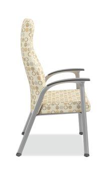 HON Soothe High-Back Patient Chair Amuse Quartz Chrome Frame Side View HHCP1.S.SMOMAMU91.P6N