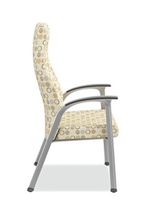HON Soothe High-Back Patient Chair Amuse Quartz Chrome Frame Side View HHCP1.S.SMOMAMU91.P6N