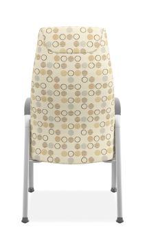 HON Soothe High-Back Patient Chair Amuse Quartz Chrome Frame Back View HHCP1.S.SMOMAMU91.P6N