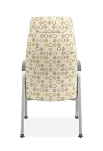 HON Soothe High-Back Patient Chair Amuse Quartz Chrome Frame Back View HHCP1.S.SMOMAMU91.P6N