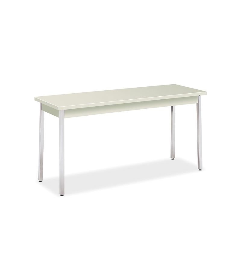 HON Utility Tables Metal Utility Table 20D x 60W Loft Chrome Front Side View HUTM2060.LOFT.LOFT.CHR