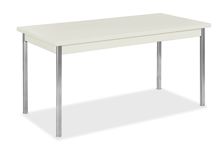 hon utility tables metal utility table 30d x 60w loft chrome front side view hutm3060 - Utility Table