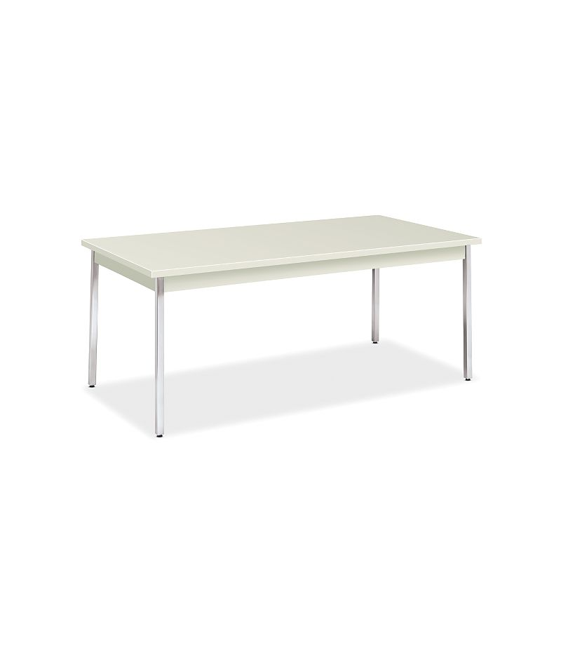 HON Utility Tables Metal Utility Table 36D x 72W  Loft Chrome Front Side View HUTM3672.LOFT.LOFT.CHR