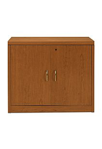 HON Valido Storage Cabinet Bourbon Cherry Front View H115291.A.B.HH