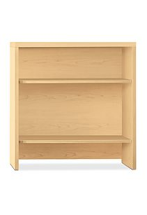 HON Valido Bookcase Hutch Natural Maple Front View H115292.A.DD