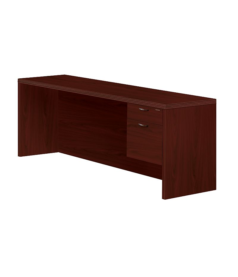 HON Valido Right Pedestal Credenza Mahogany Front Side View H11545R.A.F.NN