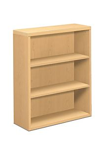 HON Valido Bookcase Natural Maple Front Side View H11553.A.DD