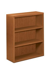 HON Valido Bookcase Bourbon Cherry Front Side View H11553.A.HH