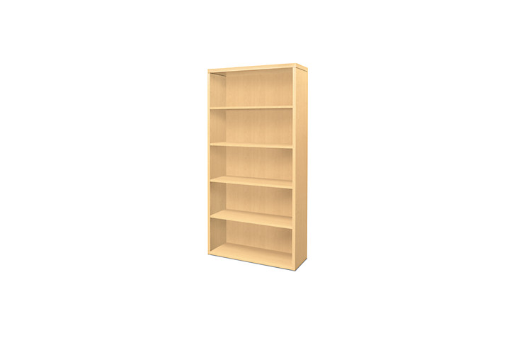 HON Valido Bookcase Natural Maple Front Side View H11555.A.DD