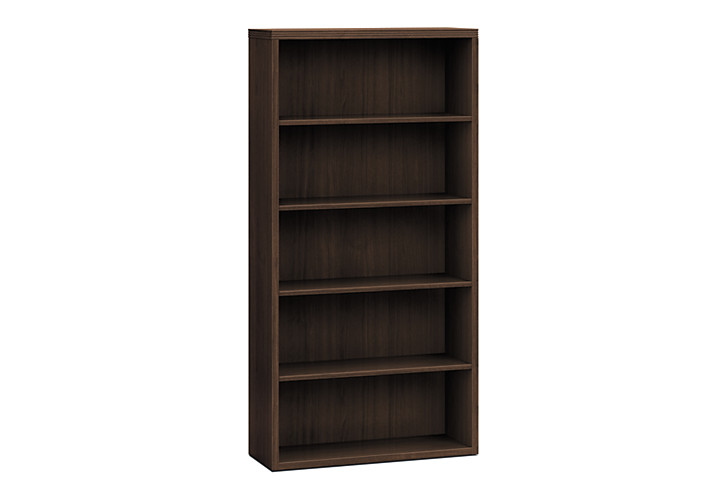 HON Valido Bookcase Dark Brown Front Side View H11555.A.ZZ