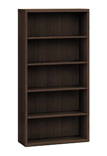 HON Valido Bookcase Dark Brown Front Side View H11555.A.ZZ