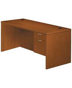 HON Valido Right Pedestal Desk Bourbon Cherry Front Side View H11583R.A.C.HH