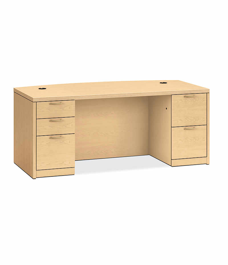 breakfront hon veneer raw desks bow panel home front hwc pedestal modesty desk double collection avenue with park computer
