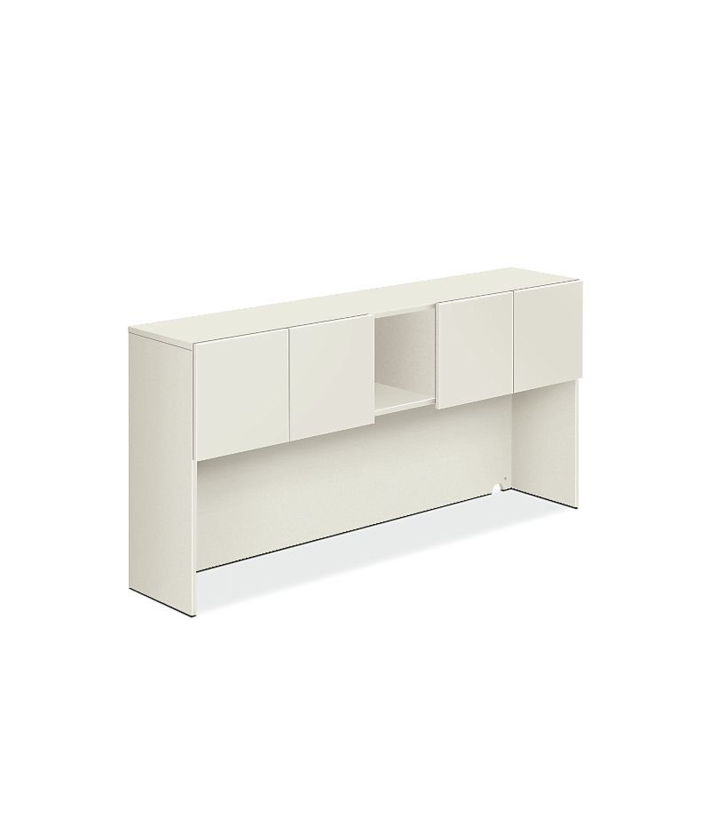 HON Voi Stack-On Hutch White Front Side View HLSL1472DB.B9.B9