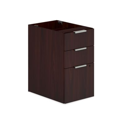 HON Voi Support Pedestal Mahogany Color Front Side View HLSL2028B.N.N.T1