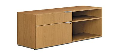 HON Voi Low Credenza Harvest Color Front Side View HLSL2060LL2.C.C.T1