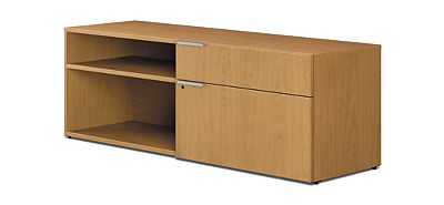 HON Voi Low Credenza Harvest Color Front Side View HLSL2060LR2.C.C.T1