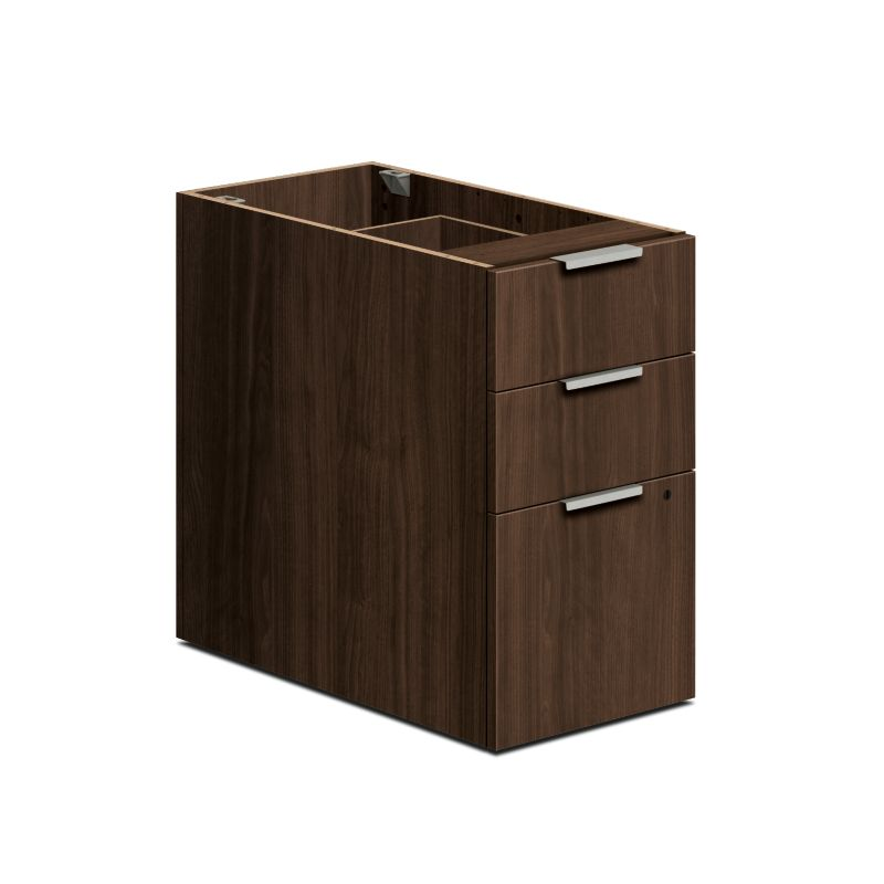 HON Voi Support Pedestal Brown Front Side View HLSL3028B.Z.Z.T1