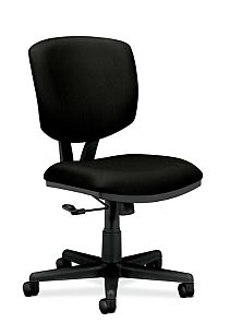 HON Volt Task Chair Black Armless Front Side View H5701.GA90.T