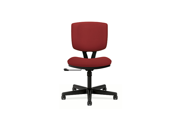 HON Volt Task Chair Red Armless Front View H5701.GA42.T