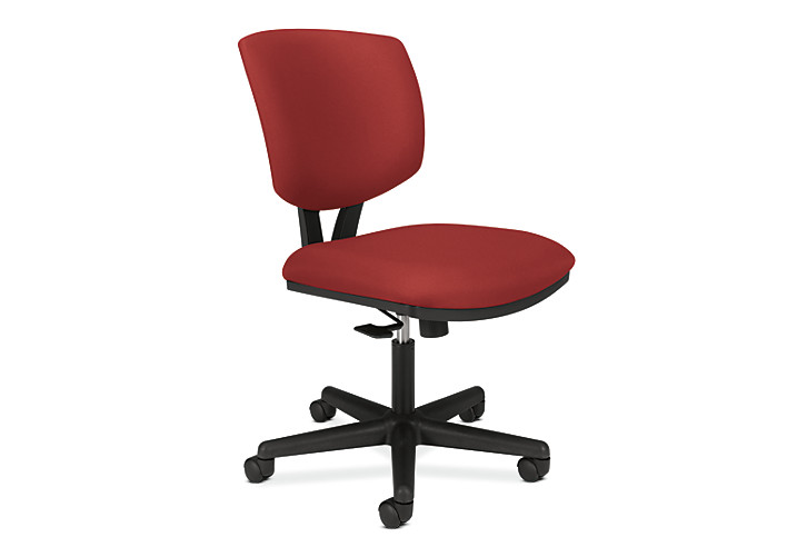 HON Volt Task Chair Red Armless Front Side View H5701.GA42.T