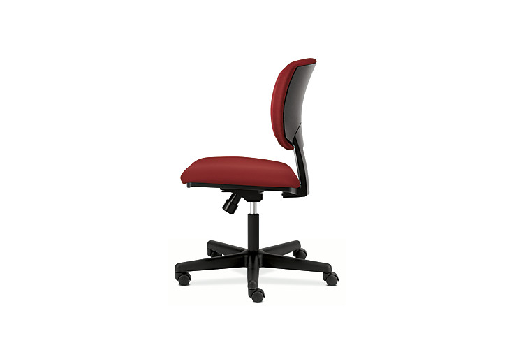 HON Volt Task Chair Red Armless Side View H5701.GA42.T
