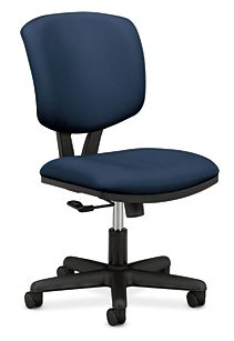 HON Volt Task Chair Blue Armless Front Side View H5701.GA90.T