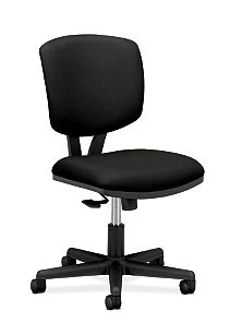 HON Volt Task Chair Black Armless Front Side View H5703.GA10.T