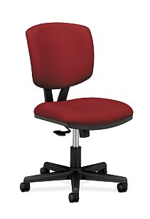 HON Volt Task Chair Red Armless Front Side View H5703.GA42.T