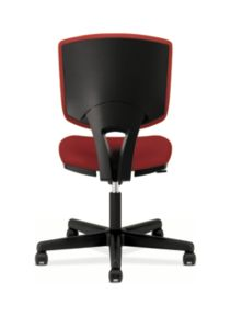 HON Volt Task Chair Red Armless Back View H5703.GA42.T