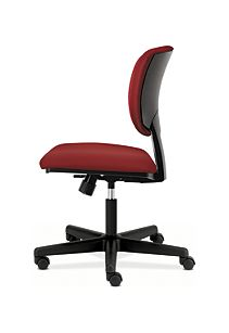 HON Volt Task Chair Red Armless Side View H5703.GA42.T