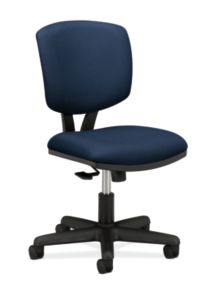 HON Volt Task Chair Blue Armless Front Side View H5703.GA90.T