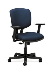 HON Volt Task Chair Blue Adjustable Arms Front Side View H5703AGA90