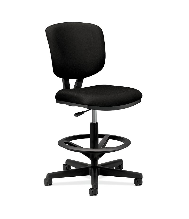HON Volt Task Chair Black Armless Front Side View H5705.GA10.T