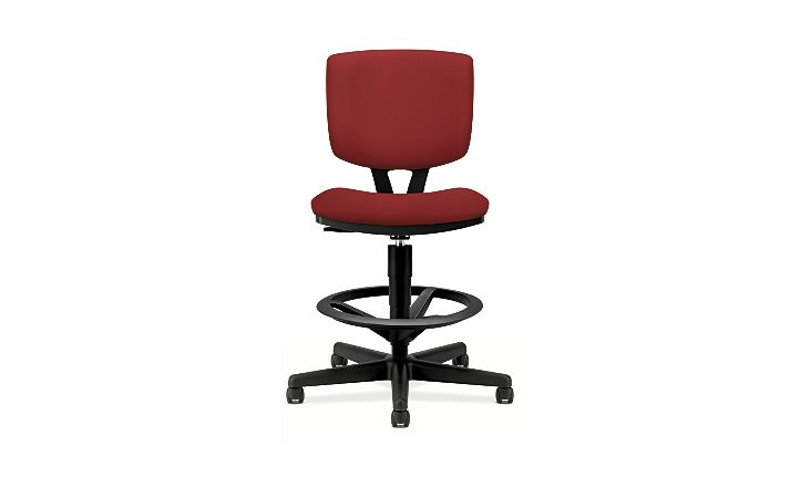 HON Volt Task Chair Red Armless Front View H5705.GA42.T
