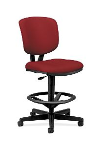 HON Volt Task Chair Red Armless Front Side View H5705.GA42.T