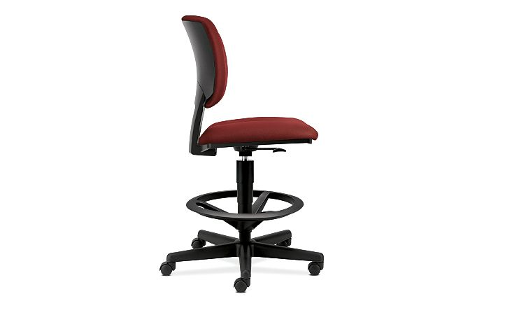 HON Volt Task Chair Red Armless Side View H5705.GA42.T